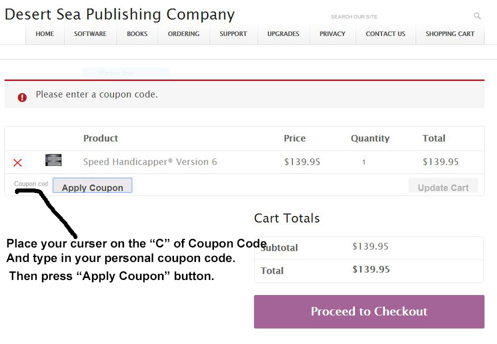 image of applying coupon